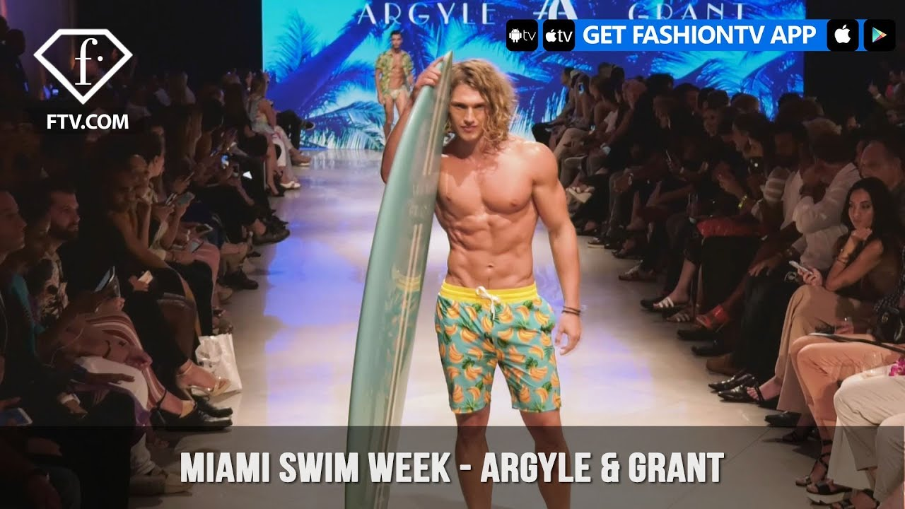 Argyle & Grant Sexy Mens Swimwear Miami Swim Week Art Hearts Fashion 2019 | FashionTV | FTV